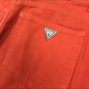 Vintage 90s 80s Orange Guess Jean Shorts 31 Denim